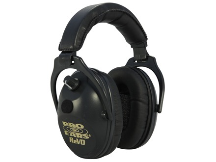 Pro Ears ReVo Electronic Earmuffs (NRR 26 dB) Black