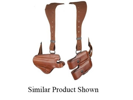 Bianchi X16 Agent X Shoulder Holster System Left Hand Glock 17, 19, 22, 23 Leather Tan