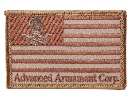 Advanced Armament Co (AAC) Flag Patch Velcro Tan