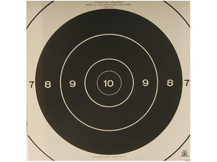 NRA Official Smallbore Rifle Targets Repair Center A-21C 200 Yard Prone Paper Package of 100