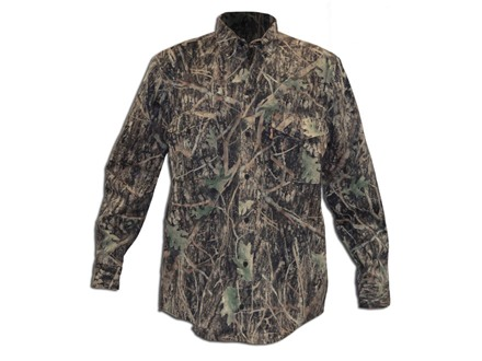 True Timber Men's Button-Up Shirt Long Sleeve Cotton Conceal Green Camo Large