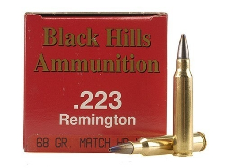 Black Hills Ammunition 223 Remington 68 Grain Match Hollow Point Moly Box of 50