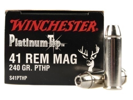 Winchester Supreme Ammunition 41 Remington Magnum 240 Grain Platinum Tip Hollow Point