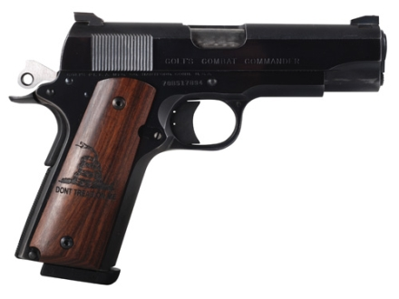 Hogue Grips 1911 Government, Commander Rosewood with Gadsden Flag Don't Tread On Me Insignia1911 Rosewood Don't Tread On Me