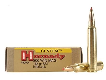 Hornady Custom Ammunition 300 Winchester Magnum 165 Grain SST Box of 20