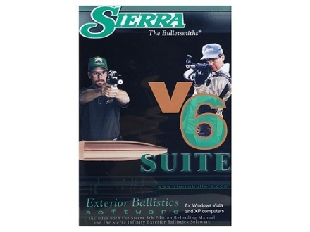 "Sierra Infinity Suite ""Infinity Exterior Ballistic Software Version 6 and 5th Edition Manual"" CD-ROM"
