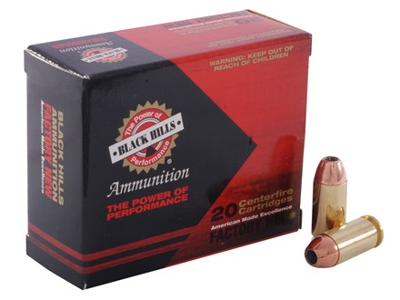 Black Hills Ammunition 40 S&W 155 Grain Jacketed Hollow Point Box of 20