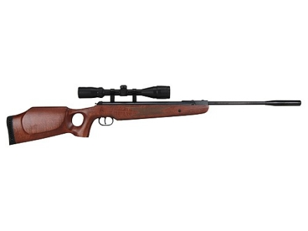 Ruger Air Hawk Elite Air Rifle 177 Caliber Wood Stock Blue Barrel with Scope 3-9x 40mm Matte