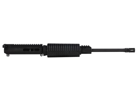 "DPMS AR-15 Sportical Flat-Top Upper Assembly 5.56x45mm NATO 1 in 9"" Twist 16"" Light Contour Barrel Chrome Moly Matte with GlacierGuard Handguard, Single Rail Gas Block, Flash Hider"
