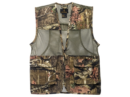 Browning Men's Dove Vest Cotton Polyester Blend Mossy Oak Break-Up Infinity Camo 2XL 49-51