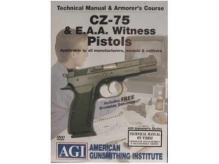 "American Gunsmithing Institute (AGI) Technical Manual & Armorer's Course Video ""CZ-75 & E.A.A. Witness Pistols"" DVD"