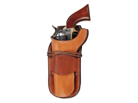 """Ross Leather Classic Belt Holster Left Hand Single Action 5.5"""" Barrel Leather Tan"""