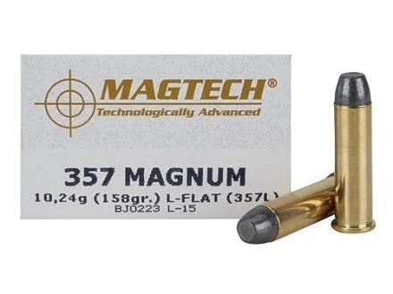 Magtech Cowboy Action Ammunition 357 Magnum 158 Grain Lead Flat Nose Box of 50