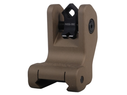 Troy Industries Rear Fixed Battle Sight Di-Optic Aperture (DOA) with Tritium AR-15 Aluminum Flat Dark Earth