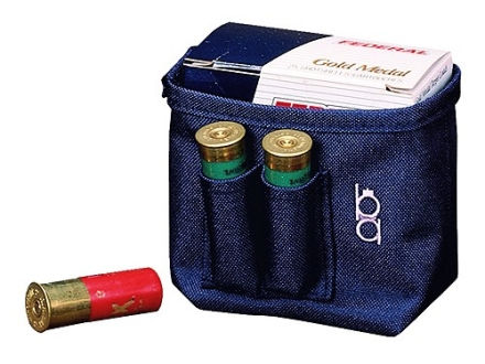 Bob Allen Single Box Shotshell Ammunition Carrier Nylon Navy