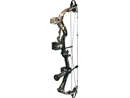 "Quest Primal G-Fade XD Compound Bow Package Right Hand 50-60 lb. 26-1/2""-30"" Draw Length Realtree AP Camo and Black"