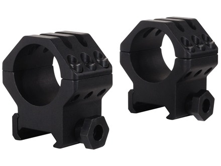 "Weaver 1"" Tactical 6-Hole Weaver-Style Rings Matte High"