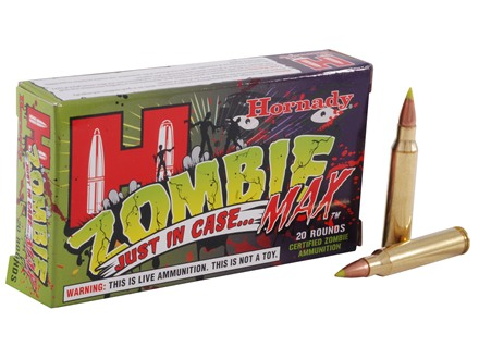 Hornady Zombie Max Ammunition 223 Remington 55 Grain Z-Max Box of 20