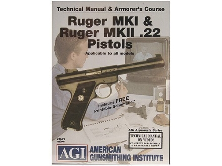 "American Gunsmithing Institute (AGI) Technical Manual & Armorer's Course Video ""Ruger Mark 1 & Ruger Mark 2 .22 Pistols"" DVD"