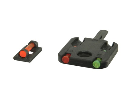 HIVIZ MiniComp Front Sight for Shotguns with Vent Rib & Removable Front Bead Fiber Optic with 3 Interchangeable Lite Pipes