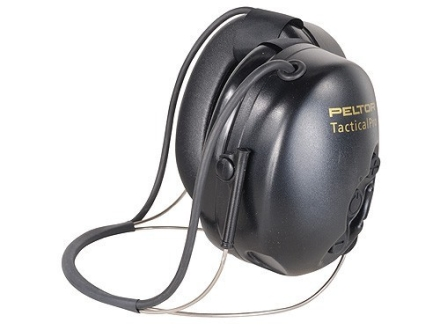 Peltor Tactical PRO Behind the Head Electronic Earmuffs (NRR 25dB) Black