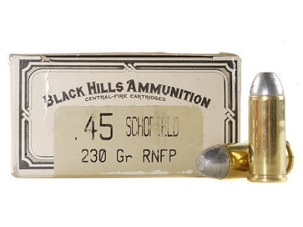 Black Hills Cowboy Action Ammunition 45 S&W Schofield 230 Grain Lead Flat Nose Box of 50