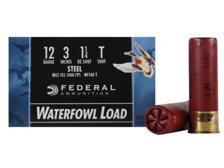 "Federal Speed-Shok Waterfowl Ammunition 12 Gauge 3"" 1-1/4 oz T Non-Toxic Steel Shot"