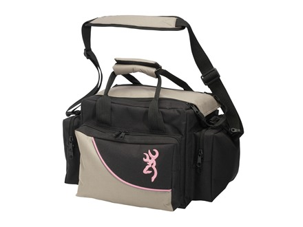 Browning Cimmaron For Her Shooting Bag Taupe/Black with Pink Trim