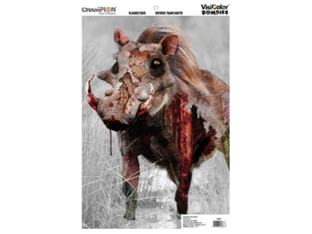 "Champion VisiColor Zombie Slasher Tusks Target 12"" x 18"" Paper Package of 50"