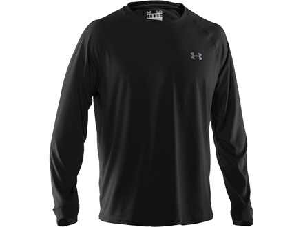 Under Armour Men's UA Tech T-Shirt Long Sleeve Polyester Black Large 42-44