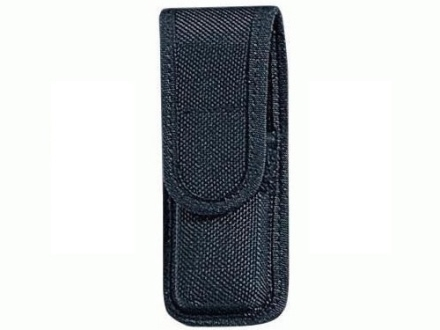 Bianchi 7303 Single Magazine Pouch or Knife Sheath Full Size Single Stack 45 ACP, 9mm Luger Velcro Closure Nylon Black