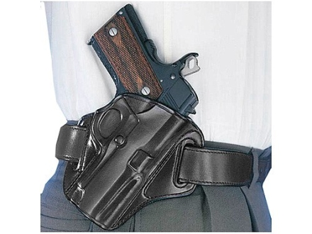 Galco Concealable Belt Holster Right Hand 1911 Defender, Springfield EMP Leather Black