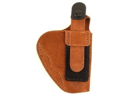 Bianchi 6D ATB Inside the Waistband Holster Left Hand S&W 640, J-Frame with Concealed Hammer Suede Tan