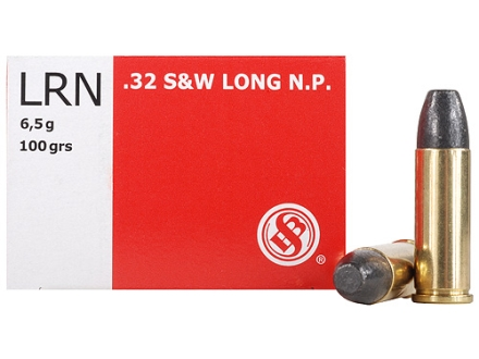 Sellier & Bellot Ammunition 32 S&W Long 100 Grain Lead Round Nose Box of 50