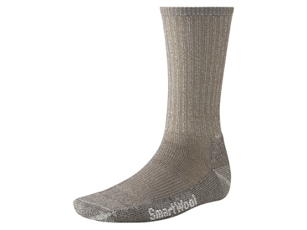 SmartWool Men's Hiking Lightweight Crew Socks Wool Blend Taupe Medium 6-8-1/2