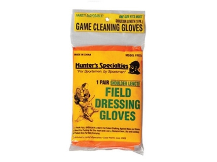 Hunter's Specialties Field Dressing Gloves Shoulder Length Poly 1 Pair