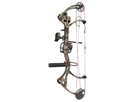"Bear Archery Siren RTH Compound Bow Package Right Hand 50-60 lb 22""-27"" Draw Length Realtree Max-1 Camo"