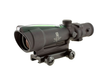 Trijicon ACOG TA11 BAC Rifle Scope 3.5x 35mm Dual-Illuminated Chevron 223 Remington Reticle with TA51 Flattop Mount Matte