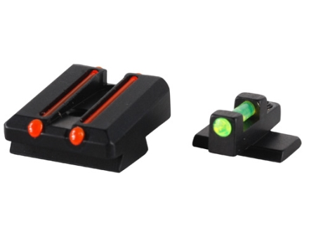 Williams Fire Sight Set Taurus PT111, PT140, PT145, PT132, PT138 With Dovetail Sights Aluminum Black Fiber Optic Green Front Red Rear