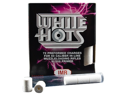 IMR White Hots Black Powder Substitute 50 Caliber #209 Primer Pre-Formed Charges Package of 72