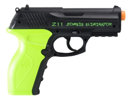 Crosman Z11 Zombie Eliminator Airsoft Pistol 6mm CO2 Full-Automatic Polymer Black and Green