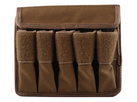 Tuff Products 5-In-Line Magazine Pouch 9mm, Glock 17 Nylon Coyote Brown