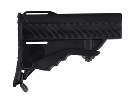 DPMS Pardus Buttstock Assembly 6-Position Commercial Diameter Collapsible AR-15 Synthetic Black