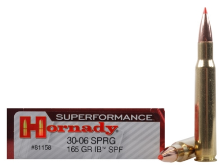 Hornady SUPERFORMANCE Ammunition 30-06 Springfield 165 Grain InterBond Boat Tail Box of 20