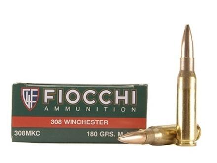 Fiocchi Exacta Ammunition 308 Winchester 180 Grain Sierra MatchKing Hollow Point Box of 20