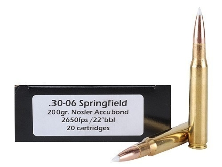 Doubletap Ammunition 30-06 Springfield 200 Grain Nosler AccuBond Spitzer Box of 20