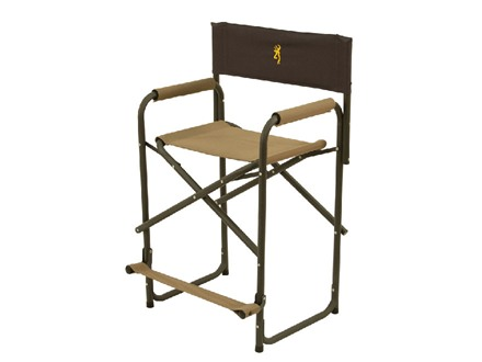 Browning Directors Chair XT Aluminum Frame Nylon Seat Khaki and Coal