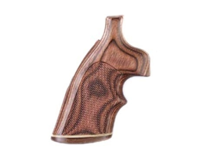 Hogue Fancy Hardwood Grips with Accent Stripe and Top Finger Groove Colt Trooper Mark III Checkered Rosewood Laminate