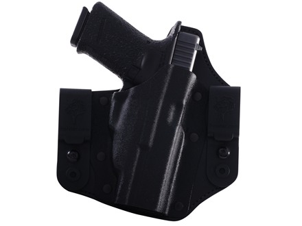 DeSantis Intruder Inside the Waistband Holster Right Hand Glock 19, 23, 32 with Crimson Trace CRM-201 Kydex and Leather Black