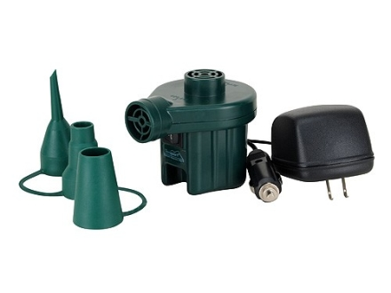 Texsport Electric Air Pump with 12V DC Adaptor and 110V AC Adaptor Green
